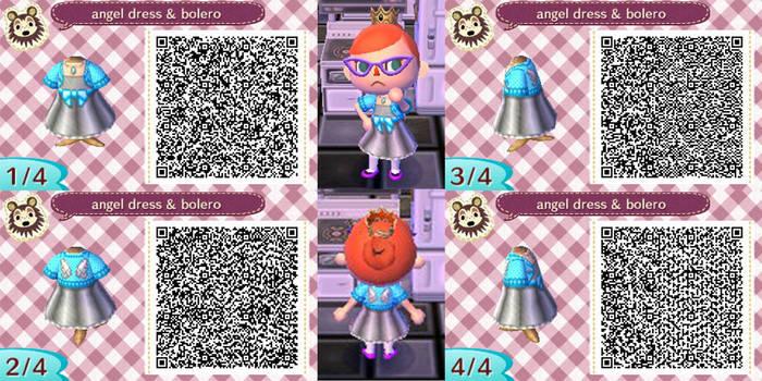Angel winged dress and bolero jacket QR code