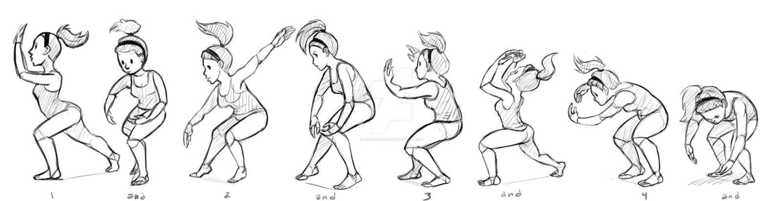 Dance class gestures