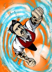 The Flight of Nikola Tesla by connerche