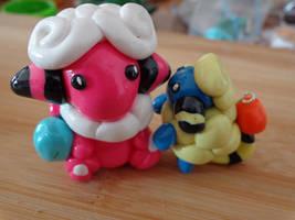 Flaaffy and Mareep by LoekazCharms