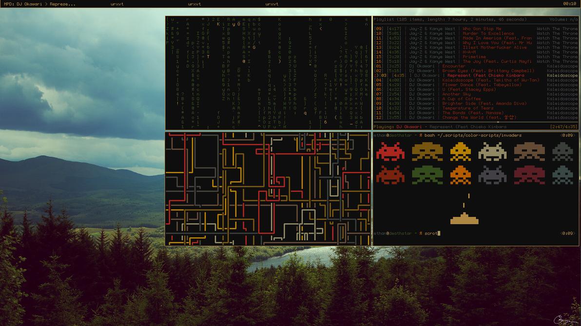 First Linux Screenshot! by Eaffon