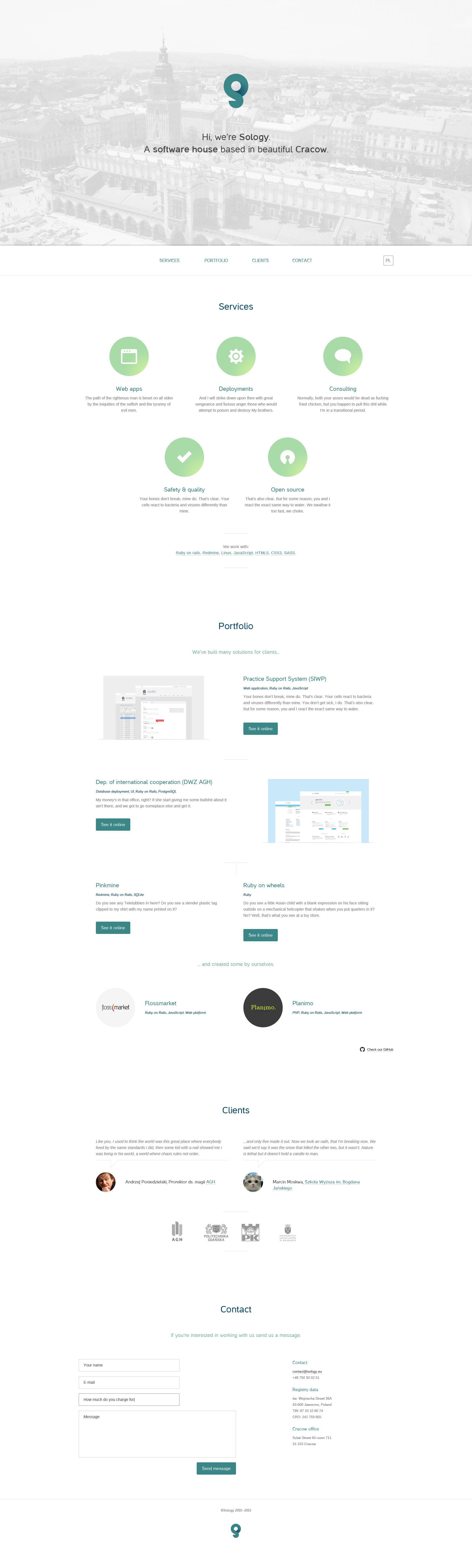 Sology website