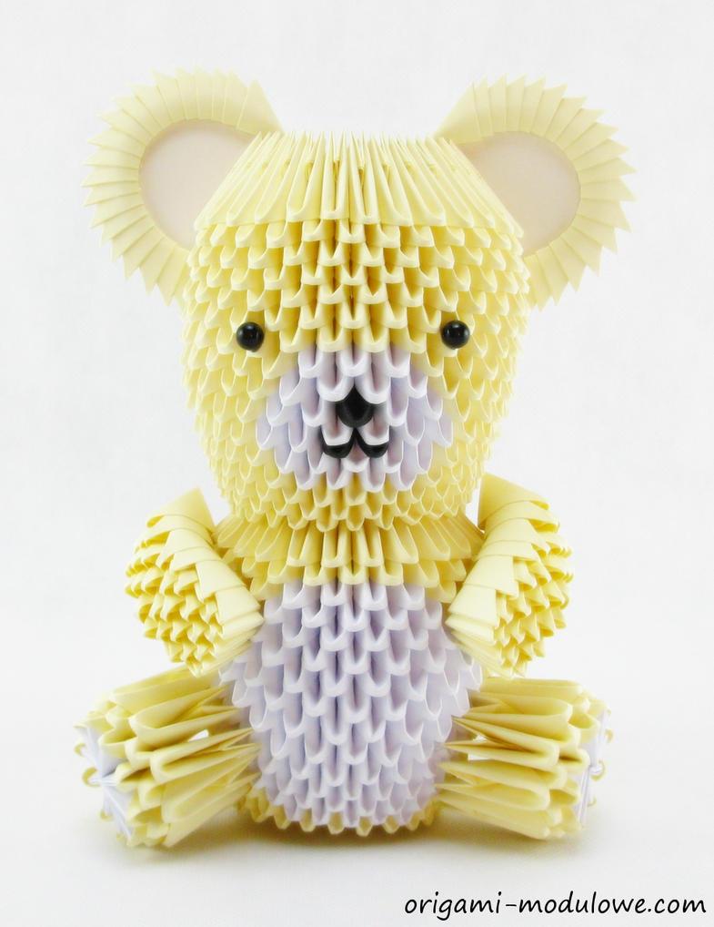 modular origami teddy bear1 by origamimodulowe on deviantart