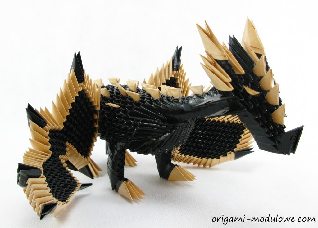 Modular Origami Dragon 1 By Origamimodulowe