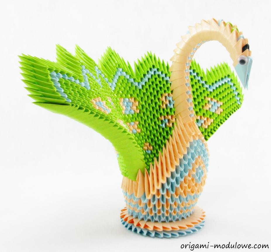 Modular Origami Swan #2 by origamimodulowe