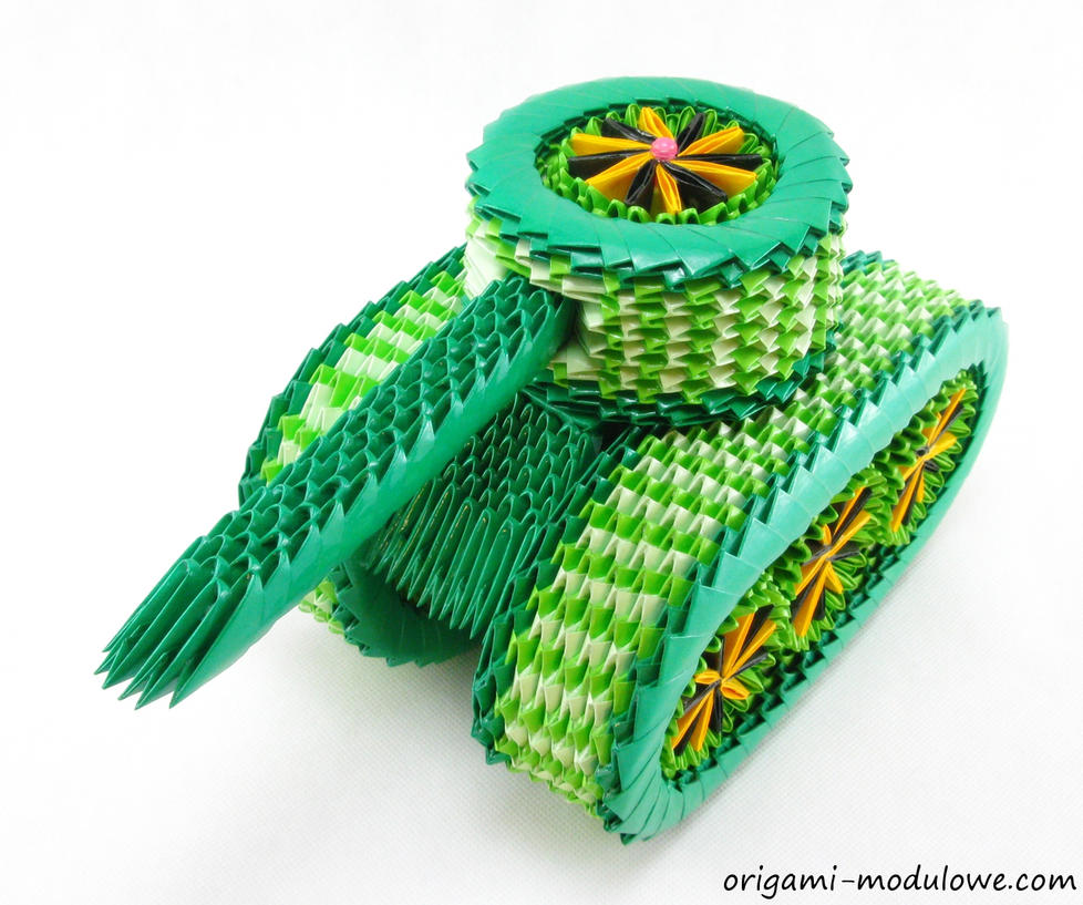 Modular origami tank 1 by origamimodulowe on deviantart for How to do 3d paper art