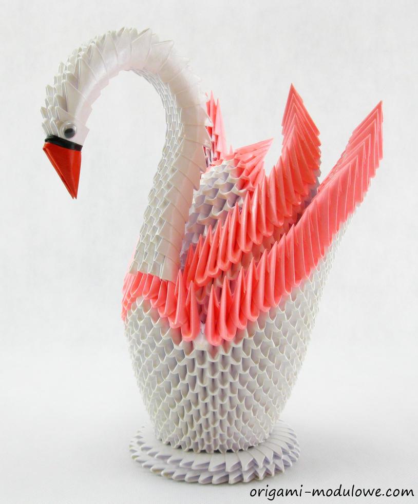Modular Origami Swan 4 By Origamimodulowe