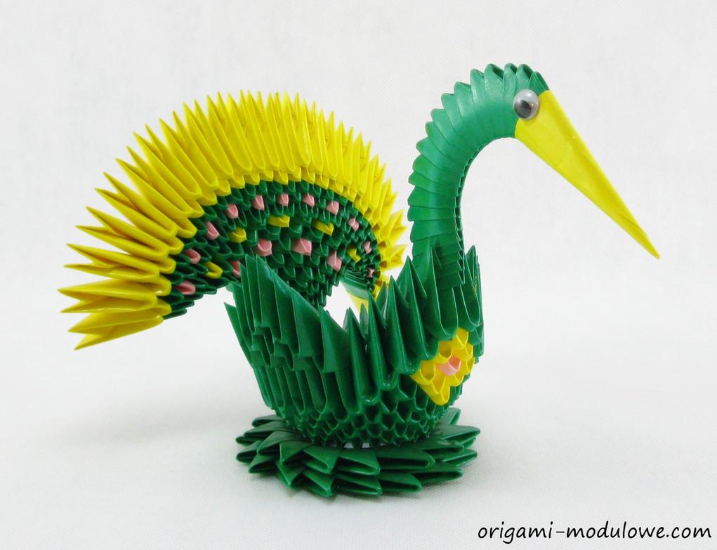 Modular Origami Mini Peacock 1 By Origamimodulowe
