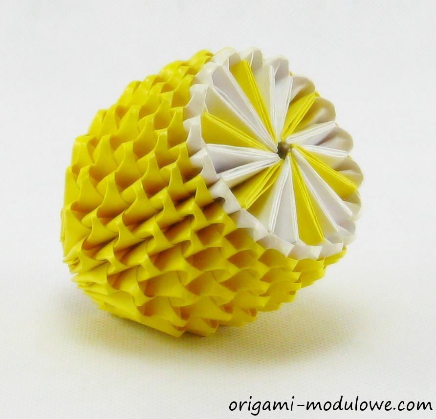Лимон модульное оригами