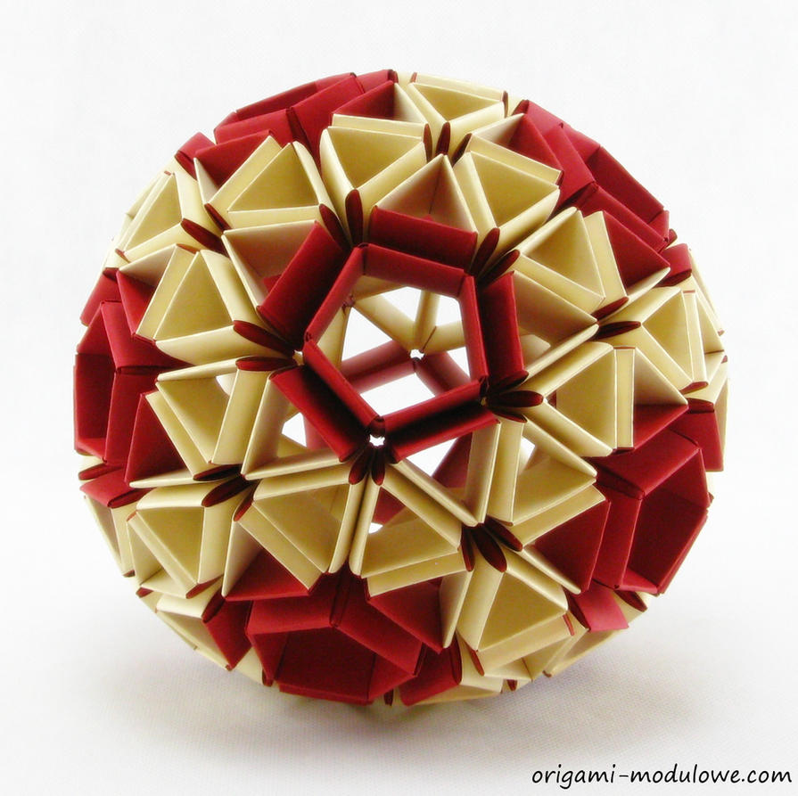 modular origami ball 1 by origamimodulowe on deviantart