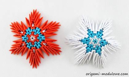 Modular Origami Christmas Stars