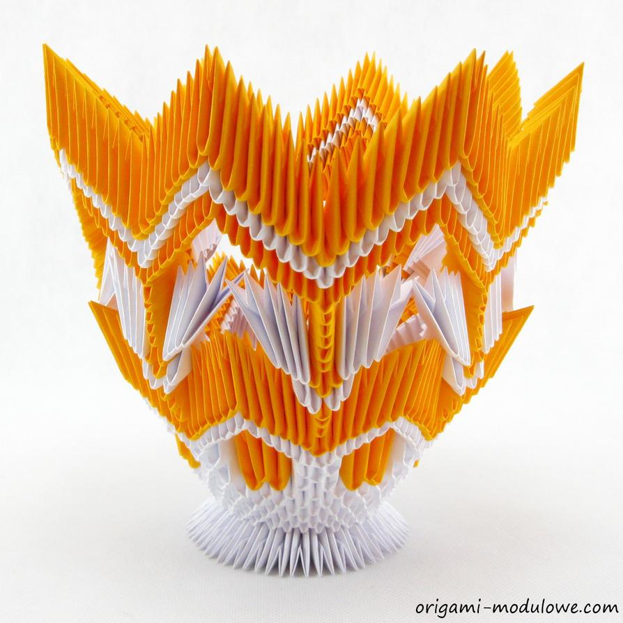 Vase 3d Origami Diagram: Modular Origami Vase #1 By Origamimodulowe On DeviantArt