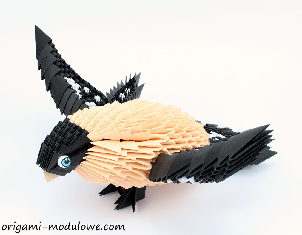 Modular Origami Bird #2 by origamimodulowe