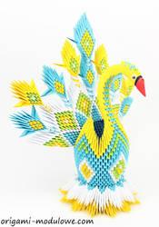 Modular Origami Peacock #4