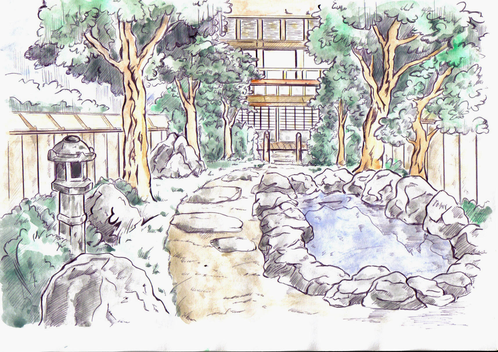 japanese garden by Asasel-chan on DeviantArt