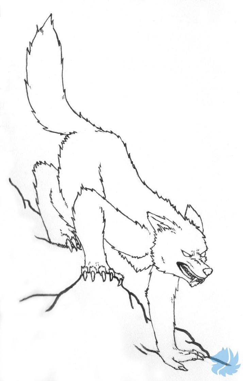 Ink Werewolf by BlueSkyWolf09