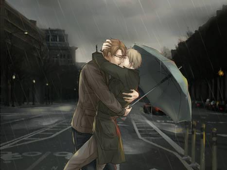 Happy (Rainy) 4th of July !! [UsUk/APH]