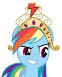 Rainbow Dash with Crown