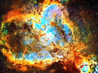 Heart and Soul Nebula Vibrant