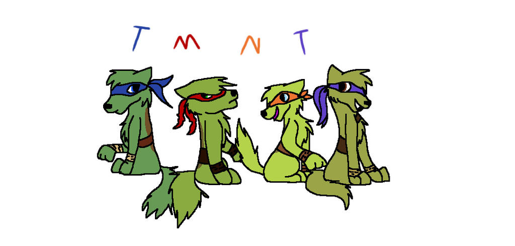 TMNT Wolfies~ by Helkie-three