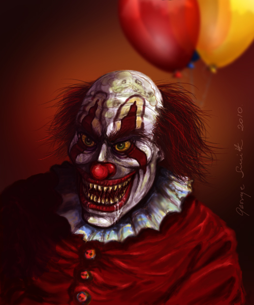 10 Creepy Clown Paintings | Absorvente |Creepy Clown Painting