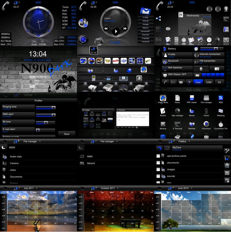 Nokia N900 - M4riNa D4rK Theme by D4rKlar