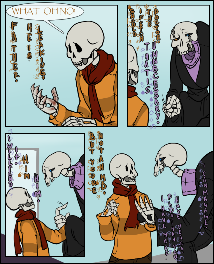 One day I'll get a hang on Gaster's neck. Until that day, he has hangers on his neck.