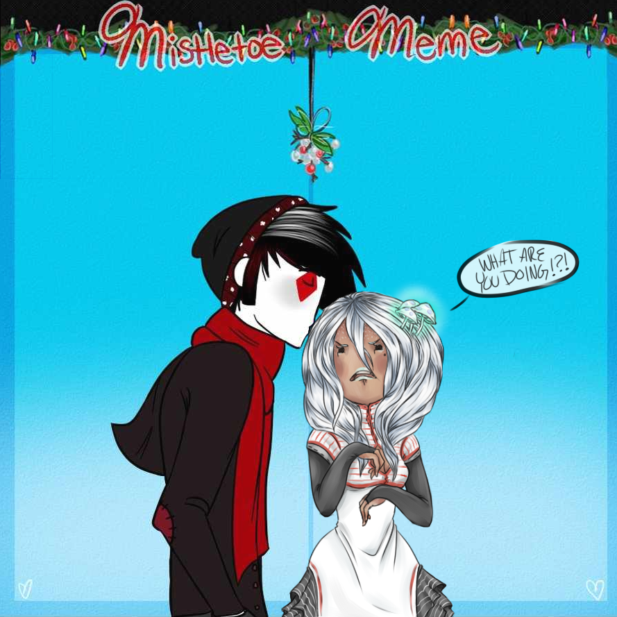 Mistletoe Meme by askahnaboogywoman