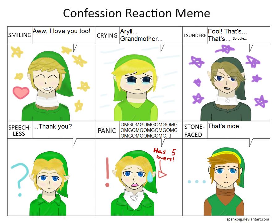 Legend of Zelda  Love Confession Meme by NinjaFalcon90Zelda Memes