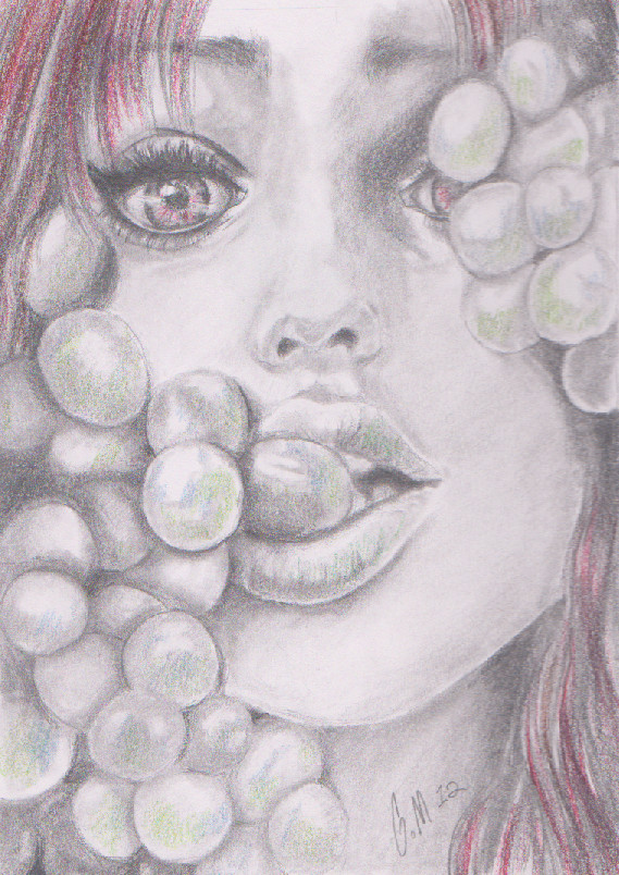 Grapes by Hatchetgabby