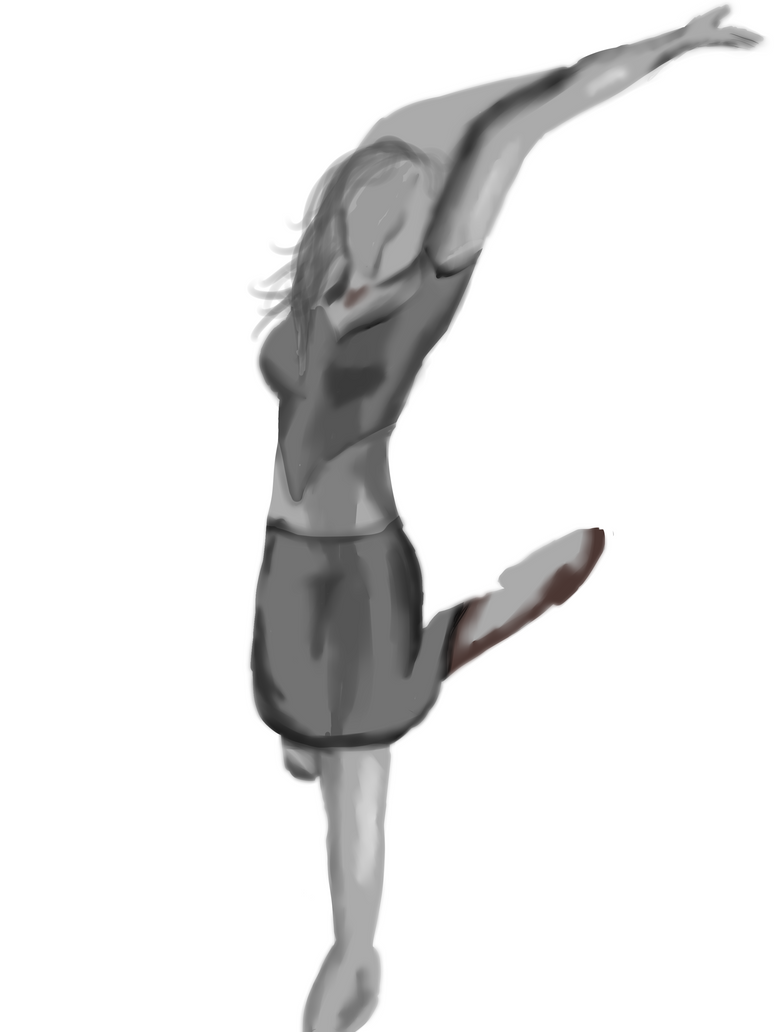 Ballet Pose grey scale by Envy-is-my-god