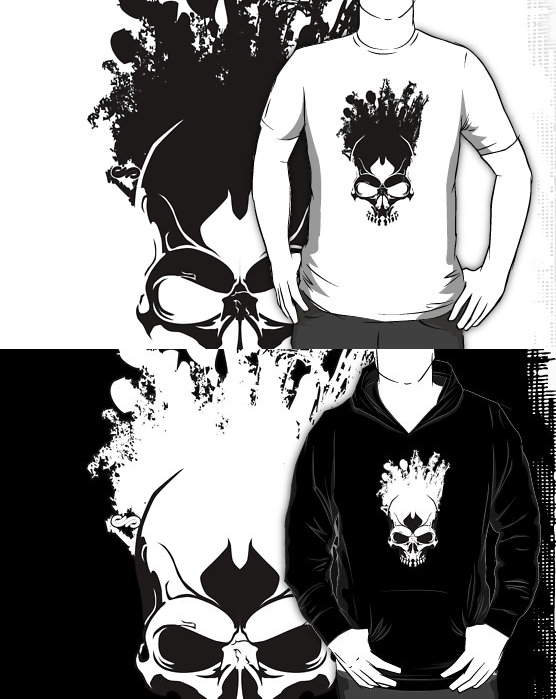 Art On The Skull T-shirts by SEspider