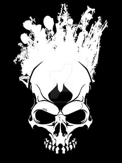 ArtOnTheSkull_White-BY_Richard by SEspider