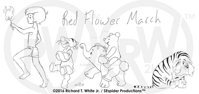 Red Flower March-Concept Roughs