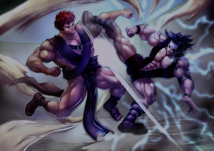 Sasuke Vs. Gaara by Felsus by Blitz-K on DeviantArt