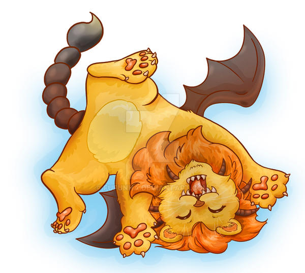 Baby manticore by fufunha on deviantart