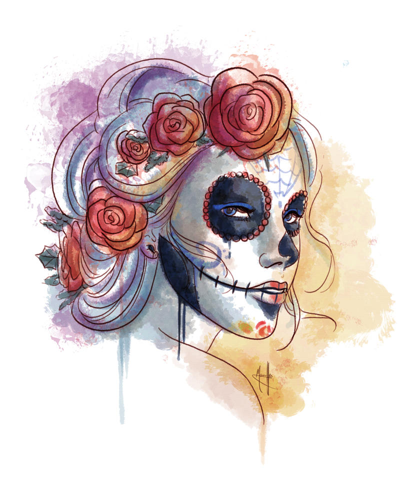 Sugar Skull, happy Halloween by Fufunha on DeviantArt