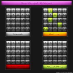 Numeric key panel GUI element