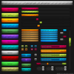Colorful web UI elements