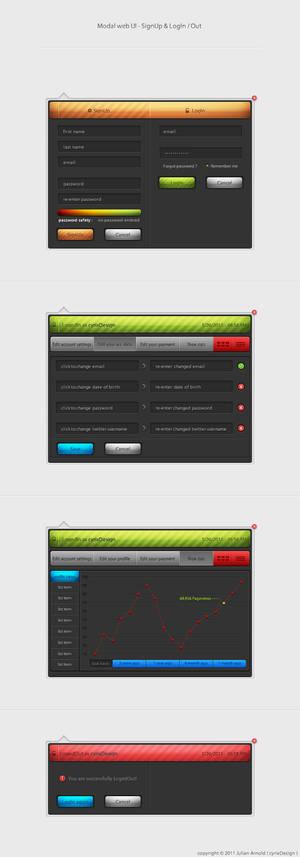 Modal web UI SignUp LogIn_Out