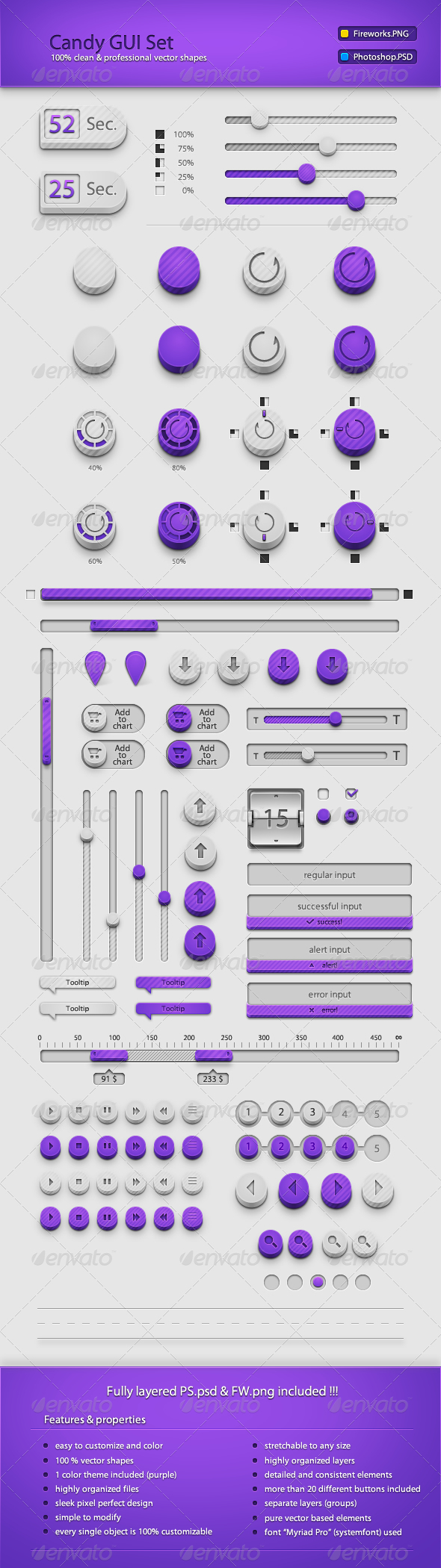 Candy GUI Set by cyrixDesign