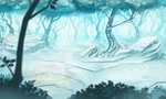 Snowy Forest by Frayde