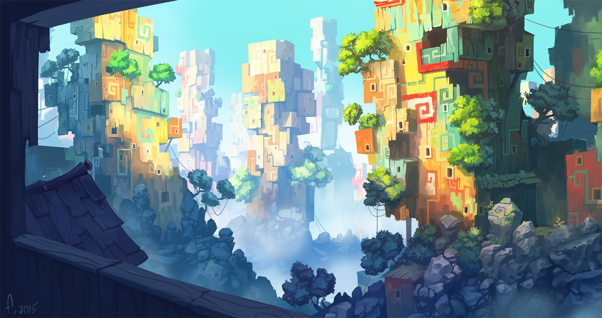 A Colorful City by Frayde