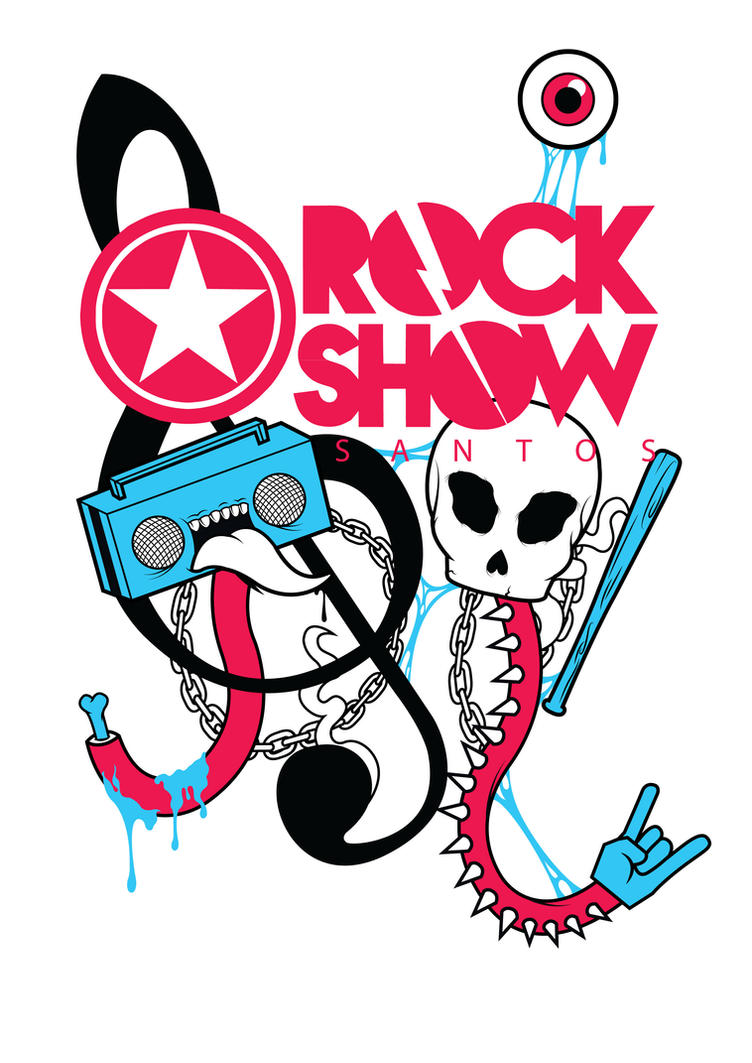 Estampa Rock Show Santos - 2 Semestre de 2014 by MBProfile