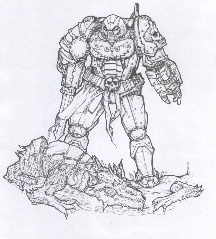 space marine warrior by sanjayblack on deviantart