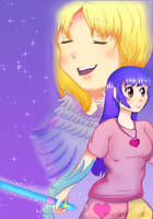Remote Angel-Becky and Alice by marinacuz