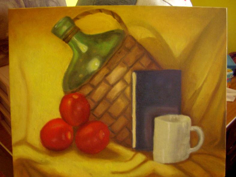 Pintura oleo jarron by chii original on deviantart - Laminas para la pared ...