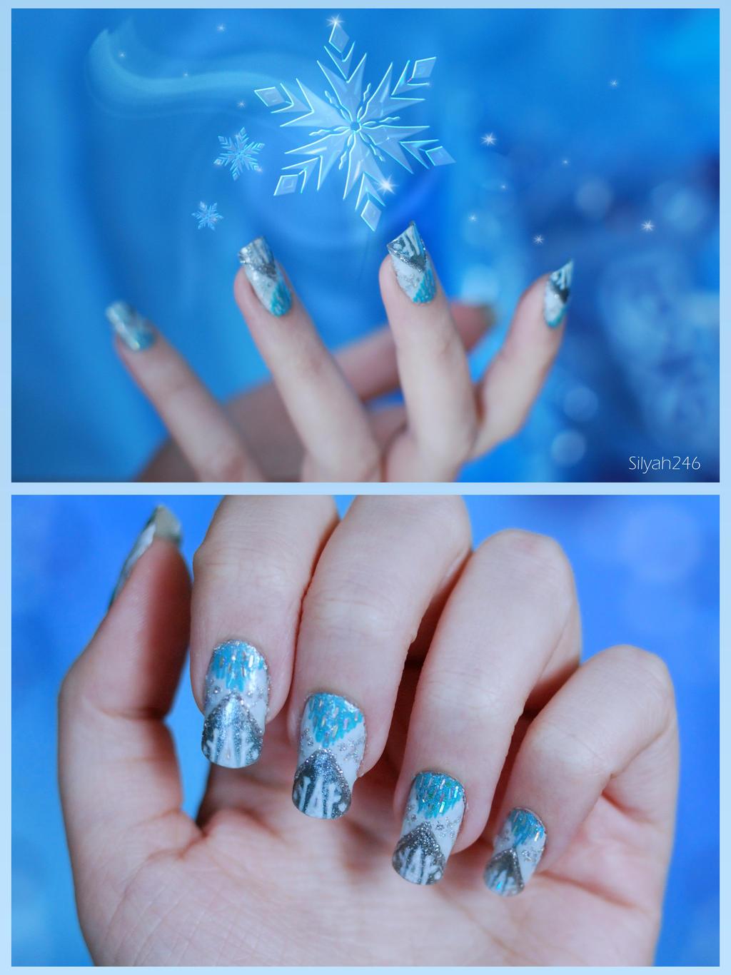 Queen Elsa Inspired Nail Art by Silyah246