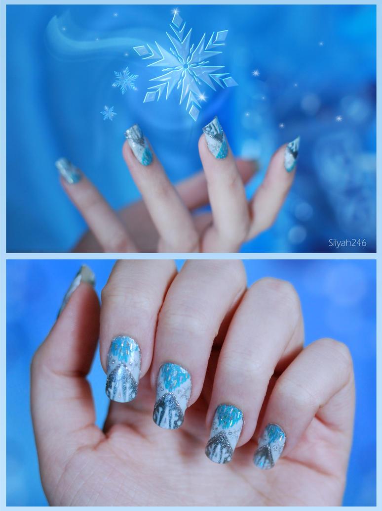 Queen Elsa Inspired Nail Art by Silyah246 on DeviantArt