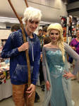 Queen Elsa and Jack Frost - Otakuthon 2014